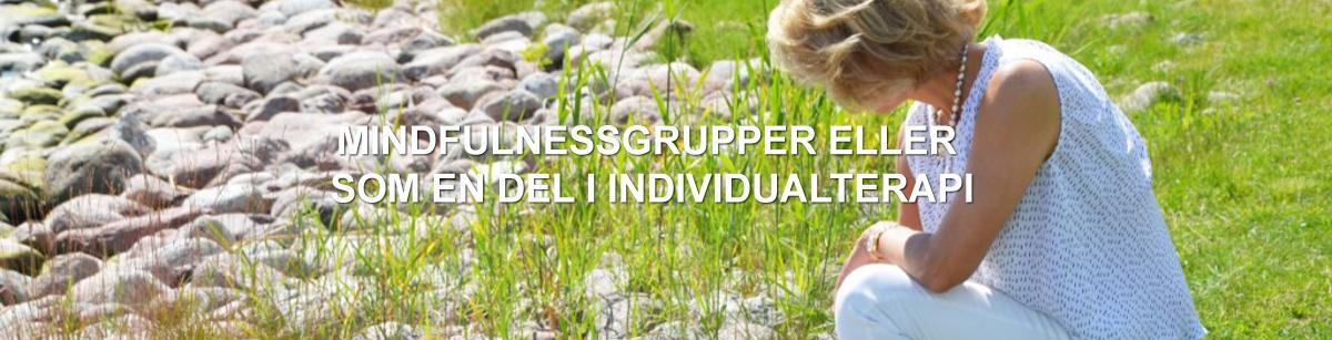 Mindfullnessgrupper eller som en del i individualterapi